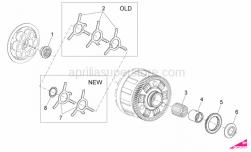OEM Engine Parts Diagrams - Clutch I - Aprilia - Oil pump gear