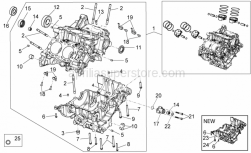 OEM Engine Parts Diagrams - Crank-Case I - Aprilia - Pin M8x12