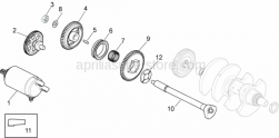 OEM Engine Parts Diagrams - Ignition Unit - Aprilia - Fork shaft
