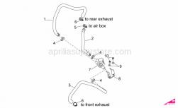 OEM Engine Parts Diagrams - Secondary Air - Aprilia - pipe