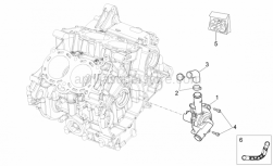 OEM Engine Parts Diagrams - Water Pump - Aprilia - Delivery water pipe
