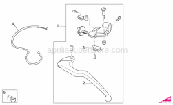 OEM Frame Parts Diagrams - Clutch Lever - Aprilia - Switch