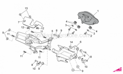 OEM Frame Parts Diagrams - Dashboard - Aprilia - Phillips screw, SWP M5x20
