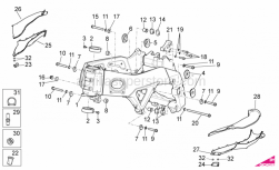 OEM Frame Parts Diagrams - Frame I - Aprilia - Engine support