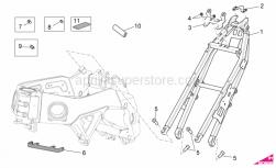 OEM Frame Parts Diagrams - Frame II - Aprilia - Water cooler upper support