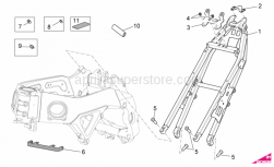 OEM Frame Parts Diagrams - Frame II - Aprilia - Threaded rivet M6