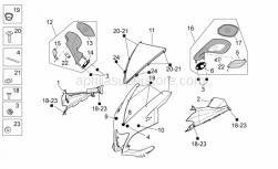 OEM Frame Parts Diagrams - Front Body I - Aprilia - LH transparent lens