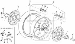 Frame - Front Wheel - Aprilia - Brake hose hanger