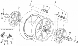 OEM Frame Parts Diagrams - Front Wheel - Aprilia - Bleed valve cap