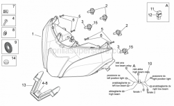 OEM Frame Parts Diagrams - Headlight - Aprilia - Washer 15x5,5X1,2*