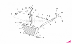 OEM Frame Parts Diagrams - Oil Radiator - Aprilia - White hose clip D17,5x8