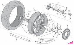 OEM Frame Parts Diagrams - Rear Wheel - Aprilia - Rear wheel spacer
