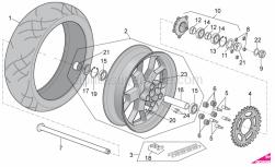OEM Frame Parts Diagrams - Rear Wheel - Aprilia - FLANGED HEXAGONAL HEAD SCREW