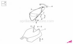 Frame - Saddle - Aprilia - Belt