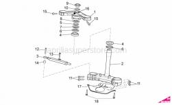 OEM Frame Parts Diagrams - Steering - Aprilia - Upper plate