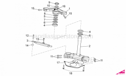 OEM Frame Parts Diagrams - Steering - Aprilia - Headlight bush