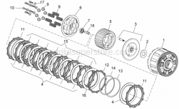 OEM Engine Parts Diagrams - Clutch II - Aprilia - DRIVEN PLATE