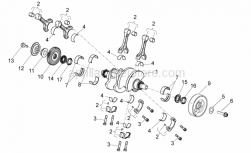 OEM Engine Parts Diagrams - Drive Shaft - Aprilia - Ring nut