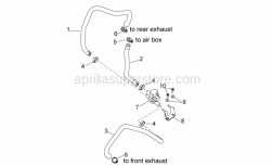 OEM Engine Parts Diagrams - Secondary Air - Aprilia - pipe