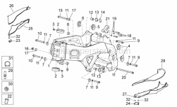 OEM Frame Parts Diagrams - Frame I - Aprilia - LH lower support