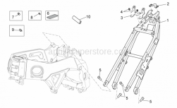 OEM Frame Parts Diagrams - Frame II - Aprilia - Support bracket