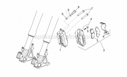 OEM Frame Parts Diagrams - Front Brake Caliper - Aprilia - LH front brake caliper