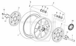 OEM Frame Parts Diagrams - Front Wheel - Aprilia - RH front brake disc