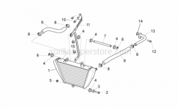OEM Frame Parts Diagrams - Oil Radiator - Aprilia - Screw w/ flange M6x12
