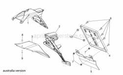 Frame - Rear Body Iii - Aprilia - Number plate holder