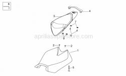 OEM Frame Parts Diagrams - Saddle - Aprilia - Rear saddle