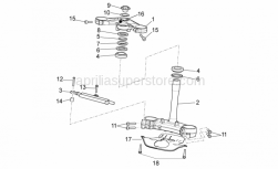 OEM Frame Parts Diagrams - Steering - Aprilia - STEERING COLUMN CONTROL