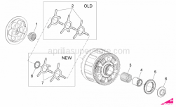 OEM Engine Parts Diagrams - Clutch I - Aprilia - Oil pump gear Z=39