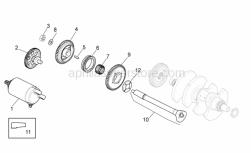 OEM Engine Parts Diagrams - Ignition Unit - Aprilia - Flanged nut M10x1