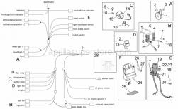 OEM Frame Parts Diagrams - Electrical System I - Aprilia - Screw w/ flange M6x20