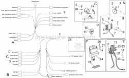 OEM Frame Parts Diagrams - Electrical System I - Aprilia - Adhesive sponge