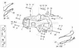 OEM Frame Parts Diagrams - Frame I - Aprilia - RH spacer