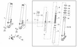 OEM Frame Parts Diagrams - Front Fork - Aprilia - Plunger, complete