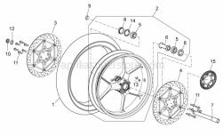 OEM Frame Parts Diagrams - Front Master Cilinder - Aprilia - Wheel spindle nut
