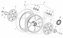 OEM Frame Parts Diagrams - Front Master Cilinder - Aprilia - Wheel speed sensor, left front
