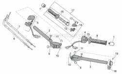 OEM Frame Parts Diagrams - Handlebar - Controls - Aprilia - Gearbox selector control