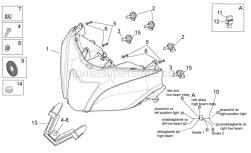 OEM Frame Parts Diagrams - Headlight - Aprilia - Lamp H11 12V 55W