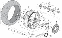Frame - Rear Wheel - Aprilia - BLACK REAR WHEEL FOR SPARE PARTS