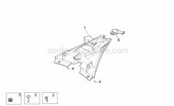 OEM Frame Parts Diagrams - Taillight - Aprilia - Screw w/ flange M5x16