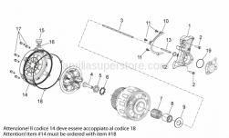 Engine - Clutch I - Aprilia - Clutch disengagement flange