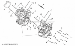 Engine - Crankcases I - Aprilia - Central crank-case set cat1B
