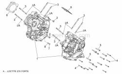 Engine - Crankcases I - Aprilia - Stud bolt M10X1.25X166