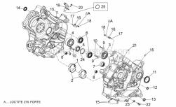 Engine - Crankcases II - Aprilia - Bearing half-shell catE verde