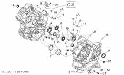 Engine - Crankcases II - Aprilia - Oil sprayer pipe