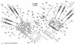 Engine - Cylinder Head - Valves - Aprilia - Rear cylinder head cpl.