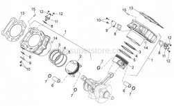 Engine - Cylinder With Piston - Aprilia - Cylinder - Piston